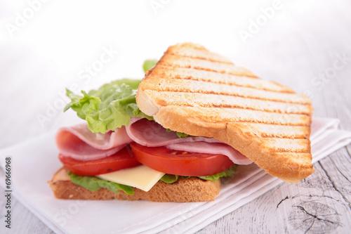 canvas print picture sandwich