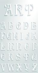 Set of letters art deco illustration flat design