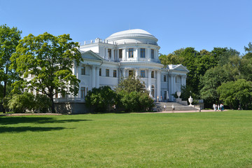 Yelagin Palace in a summer sunny day. St. Petersburg