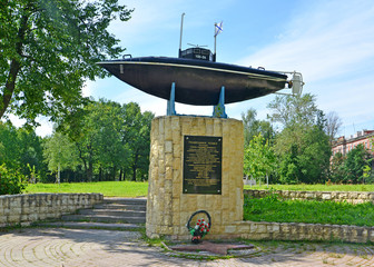 Monument to the first Russian submarine of a design of S. K. Dzh