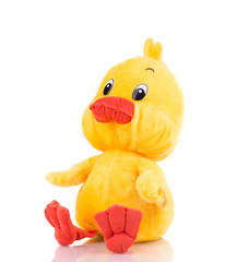 Close up of toy duck.