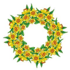 Narcissus wreath