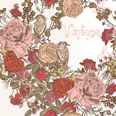Fashion floral background with flowers