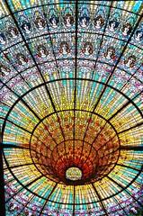 カタルーニャ音楽堂、ステンドグラス、スペイン