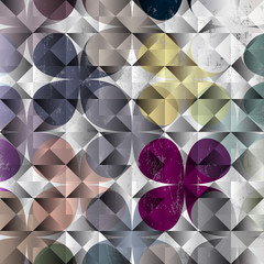 abstract geometric pattern background, halftone, retro/vintage s