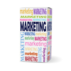 marketing word on product box