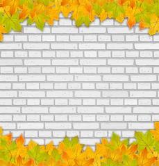 Steinwand Herbst