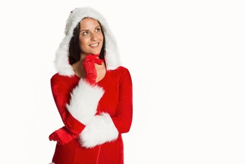 Woman wearing christmas styled clothes