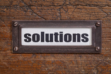 solutions - file cabinet label