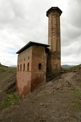 Ruined mosque in the ancient Armenian city of Ani, Turkey.