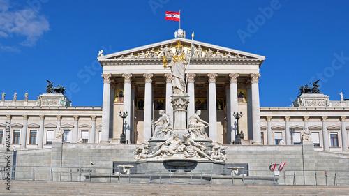 Fotobehang Wenen parlament in wien