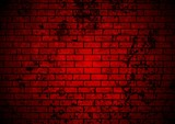 Dark red grunge brick wall background
