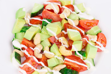 Close up of fitness salad.