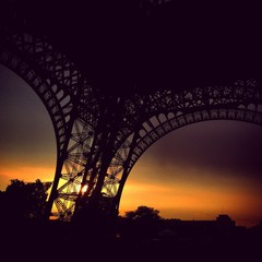 Paris, the Eiffel Tower at sunset