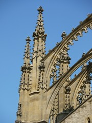 Detail of gothic portico, St. Barbora cathedral, Czech Republic