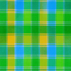 texture of green plaid fabric