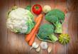 Broccoli, cauliflower - organic vegetables