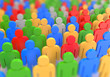 render of a colorful crowd