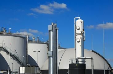 Modern biogas factory.