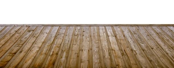 Holzfußboden mit freier Wandfläche