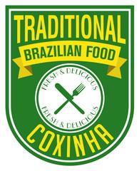 brazilian coxinha stamp