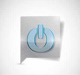 on button message illustration design