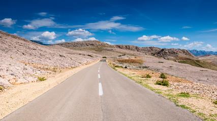 road to metajna Pag island Croatia
