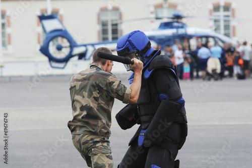 Leinwanddruck Bild gendarme