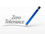 zero tolerance illustration design poster