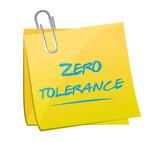 zero tolerance memo illustration design poster