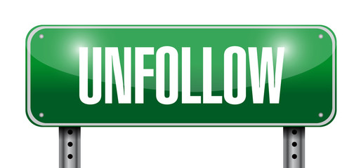 unfollow sign illustration design