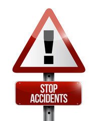 stop accidents warning illustration design