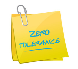 zero tolerance memo illustration design