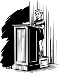 Boy On Podium