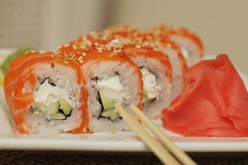 Philadelphia classic.Japanese sushi.