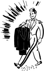 Bellhop With Clean Suit
