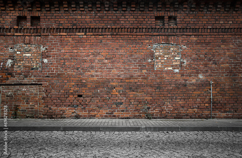 Leinwanddruck Bild Old grunge urban background