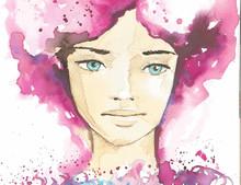 illustration du portrait abstrait d'une femme