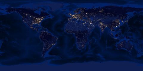 Earth - Night & Borders