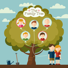 The Family tree illustration
