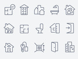 Fototapety Real estate icons