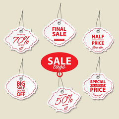 Sale label tags set.