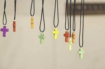 Cross shaped pendants