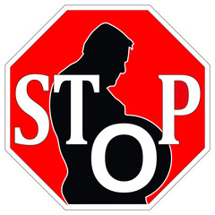 Stop obesity concept