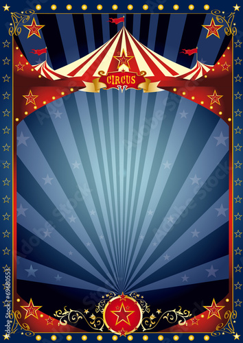 Fun night circus poster - 69680553