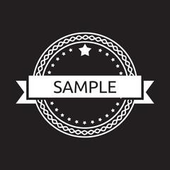 Vintage label badge
