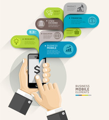 Mobile business bubble speech template style. Vector illustratio