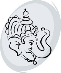 Ganesha The Lord Of WisdomAbstract, Art, Aum, Background, Callig