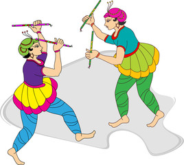 Garba (Dandia) Is An Indian Form Of Dance