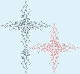 Pinstripe Christian Cross : Vinyl Ready